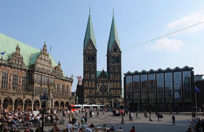 Bremer Dom und Rathaus